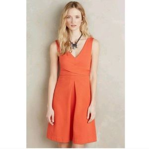 Anthropologie HD in Paris Ardmore Orange Dress